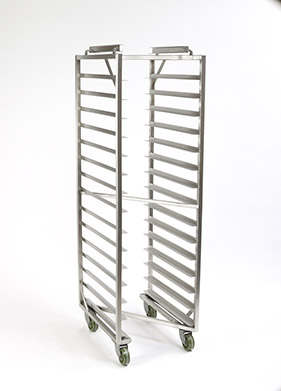 Z-FRAME® Nesting Baxter Oven Racks - Single End Load