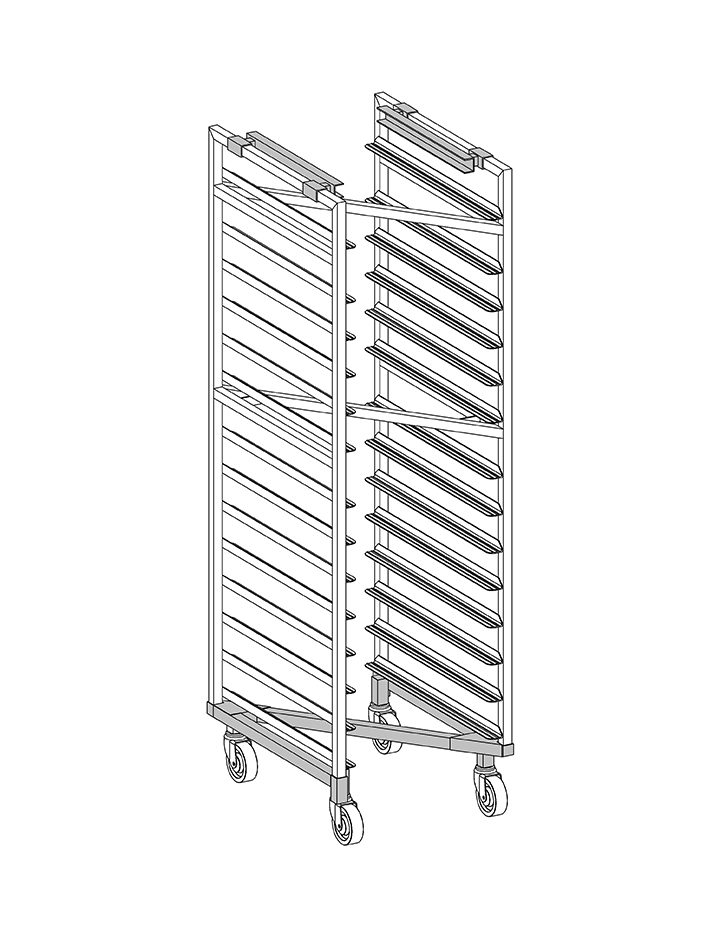 OvenZ® Single End Load Aluminum Nesting Oven Rack