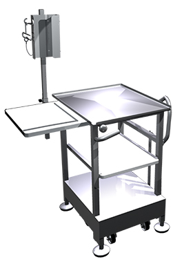 Deli Pro B5 Mobile / Retractable Wheel Face to Face Slicer Mounting System