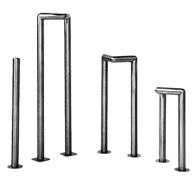 Four Single and Double Tube Stainless Steel Corner Guard Case Protectors